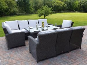 Panama Rattan Garden Dining Set pictures & photos
