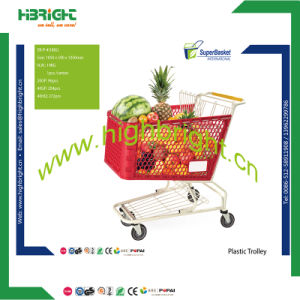 Supermarket Metal Plastic Shopping Trolley pictures & photos