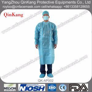 Disposable Non Woven Fluid Resistant Gown pictures & photos