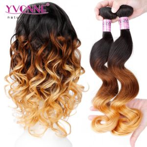 Fashion Ombre Hair Weave Loose Wave 100% Human Hair Extension pictures & photos