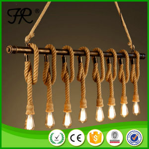 Hot Sale Antique Hemp Rope Pendant Lamp pictures & photos