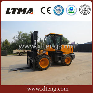 10 Ton 4WD Fork Lift Rough Terrain Forklift for Sale pictures & photos