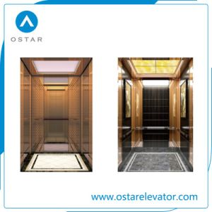 Luxurious Wooden and Mirror Villa Elevator Cabin with Competitive Price (Elevator Parts) pictures & photos