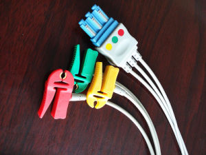 Philips M1673A IEC Clip 3 Leadwire ECG Cable pictures & photos