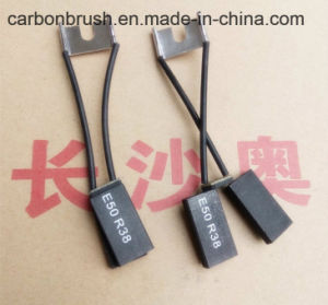 High Quality Electrographite Carbon Brush E50R38 pictures & photos