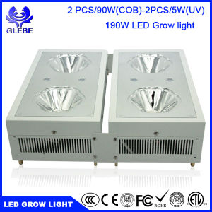 LED Plant Grow Light 190W 2PCS 90W COB LEDs UV Full Spectrum LED Grow Lights for Indoor Plants pictures & photos