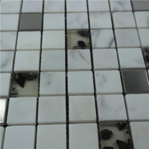Colorful Square Shape Stainless Glass Crystal Mosaic pictures & photos