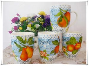 10 Oz Mug with Flower for Promotional or Gifts pictures & photos