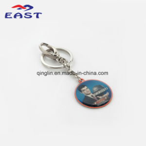 Promotion Basketball Star Printed Metal Keychain pictures & photos