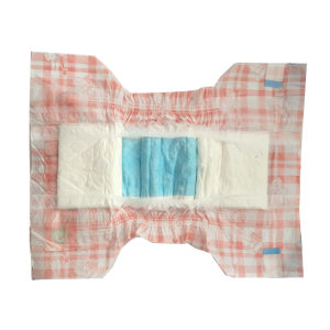 Orange Chequer Pattern Nice Design Baby Disposable Diaper pictures & photos