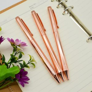 2017 New Arrival Rose Gold Logo Metal Ball Pen. pictures & photos