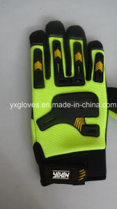 Work Glove-Heavy Duty Glove-Anti Vibraiton Glove-Industria Glove-Leather Glove-Labor Glove pictures & photos