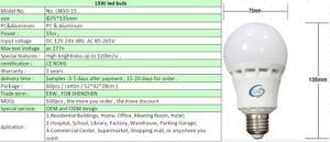 Brightness High Power LED Bulb 15W 18W 20W E27 120lm/W pictures & photos