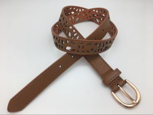 High Quality PU Belt with Cut out Design (YF-068)