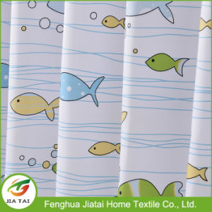 Custom Polyester Fish Shower Curtain Eyelet Bath Curtain for Bathroom pictures & photos