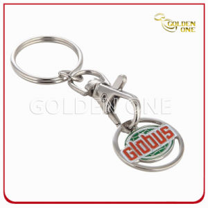 Personlized Custom Metal Stamped Soft Enamel Trolley Coin Keychain pictures & photos