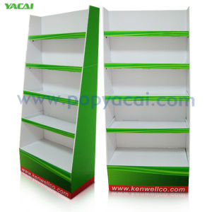 Cardboard Floor Display with Four Trays Corrugated Display Stand pictures & photos