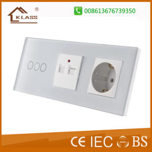 Touch Screen Smart Wall Switch and Socket Ce RoHS pictures & photos