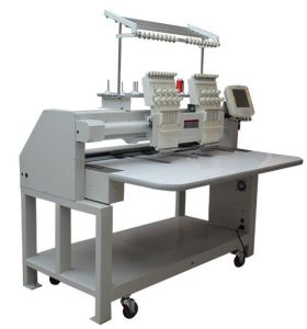 2 Head 9 Colors Flat Embroidery Machine pictures & photos