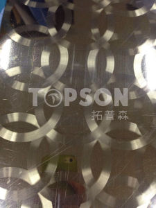 Stainless Steel Plate for Decoration Circular Brused Finish