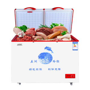 Top Open Double Doors Chest Freezer with Detachable Magnetict Door Seal pictures & photos