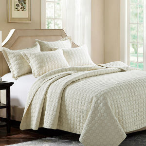 Worldwide Used Cotton Patchwork Hotel Bedspread Jacquard Quilt Sets pictures & photos
