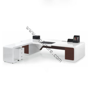 Modern Stylish L-Shape Wooden Office Furniture pictures & photos