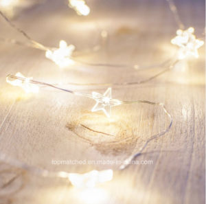 40 Micro Warm White Battery Operated LED Star Christmas String Light pictures & photos