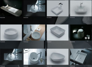 High Quality Polished Caststone Freestanding Bathtub pictures & photos