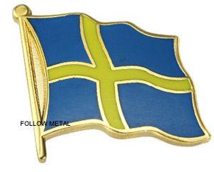 Badge with Flag Logo Imitation Hard Enamel Process pictures & photos