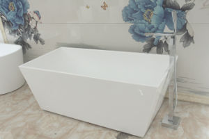 Australia Popular Square Seamless Acrylic Free Standing Bathtub pictures & photos