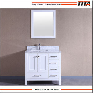 2017 Hot Selling Solid Wood Bathroom Cabinet T9199-36W pictures & photos