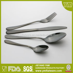 High Quality Stainless Steel Black Flatware Made in China pictures & photos