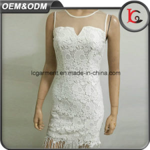 Customized Short Sleeve Dresses White Skirt Women and Ladies Dress Women Casual Boutique Dresses pictures & photos