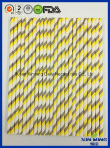 Party Decoration Yellow Gree Striped Paper Straw pictures & photos