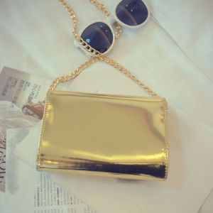 Shiny PU Leather Silver&Gold Handbag
