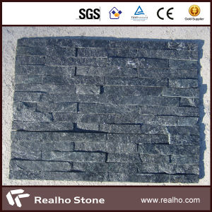Natural Veneer Black Quartz Wall Panel/Culture Stone for Wall pictures & photos