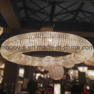 Modern Large and Luxury Round Ring LED Egyptian Crystal Chandelier for Hotel pictures & photos