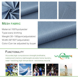 Polyester Tricot Mesh Fabric pictures & photos