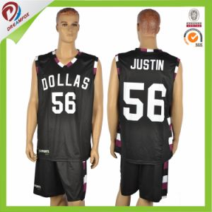 Free Cutom Polyester Team Basketball Uniform Set Logo Design pictures & photos