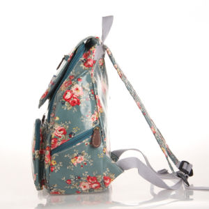 Waterproof PVC Canvas Floral Patterns Backpack Bag (23208) pictures & photos