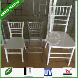 Resin Polycarbonate Tiffany Chair for Wedding pictures & photos