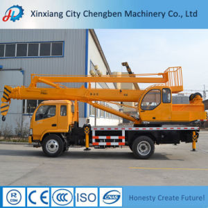4 Ton Truck Mounted Crane with Operation Basket pictures & photos