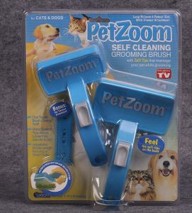 2-Pack Pet Brush Small Cleaning Brush Petzoom Self Cleaning Pet Grooming Brush pictures & photos