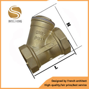 1/2 High Quality Brass Y Strainer with Brass Colour pictures & photos