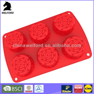 Deformation Resistant Freezers Silicone Cake Mould