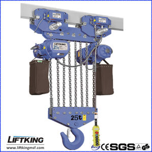 Liftking 25 T Electric Chain Hoist with Forged Hooks pictures & photos