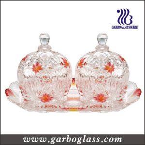 Colored 3PCS Glass Candy Pot Set (TZ-GB1718MI-P2) pictures & photos