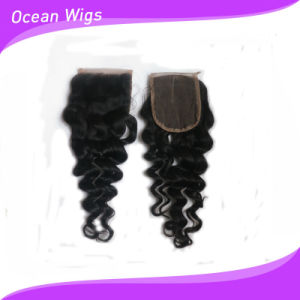 """3.5*4"""" Silk Top Lace Loose Wave Closure Brazilian Virgin Remy Hair pictures & photos"""