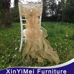 2016 New Style Fancy Organza Chair Sash for Wedding pictures & photos
